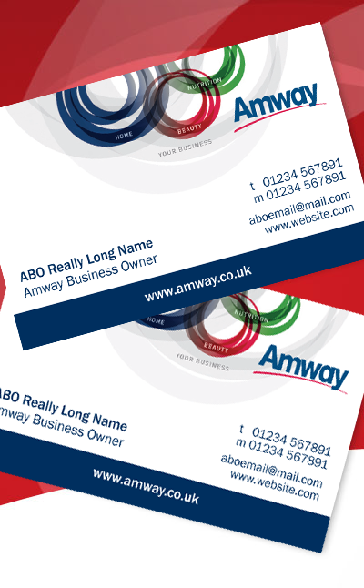 Amway generic business cards amway shop for Amway business cards design
